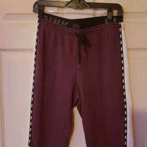 PINK burgundy jogger style sweatpants